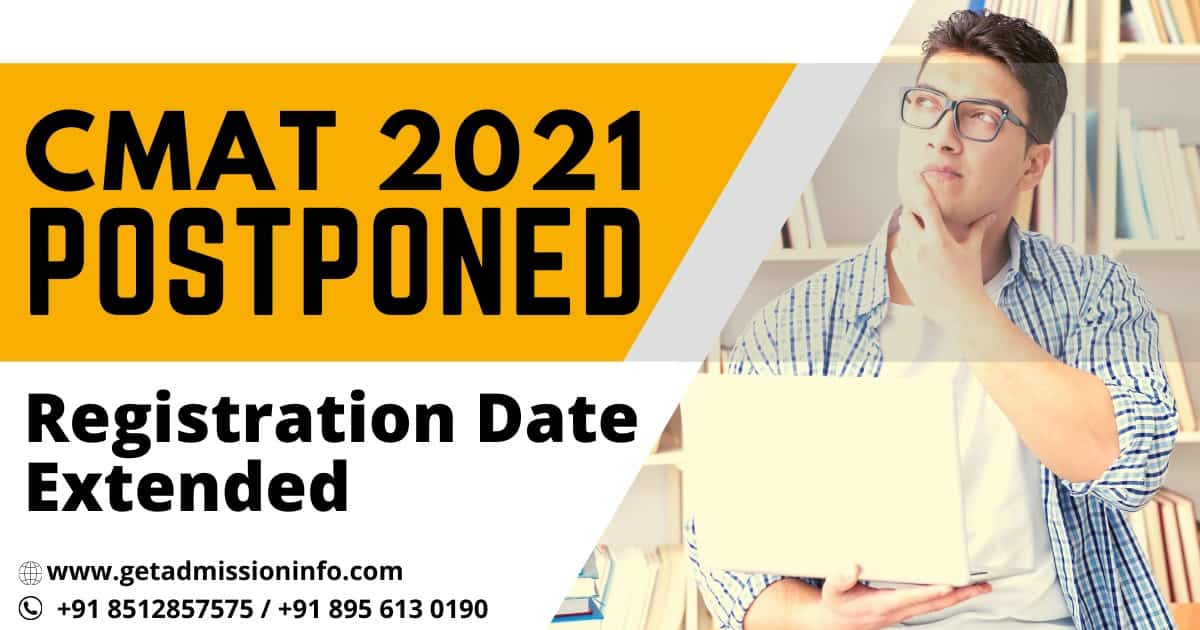 NTA Postponed CMAT 2021 Date, Registration Window Opened Again