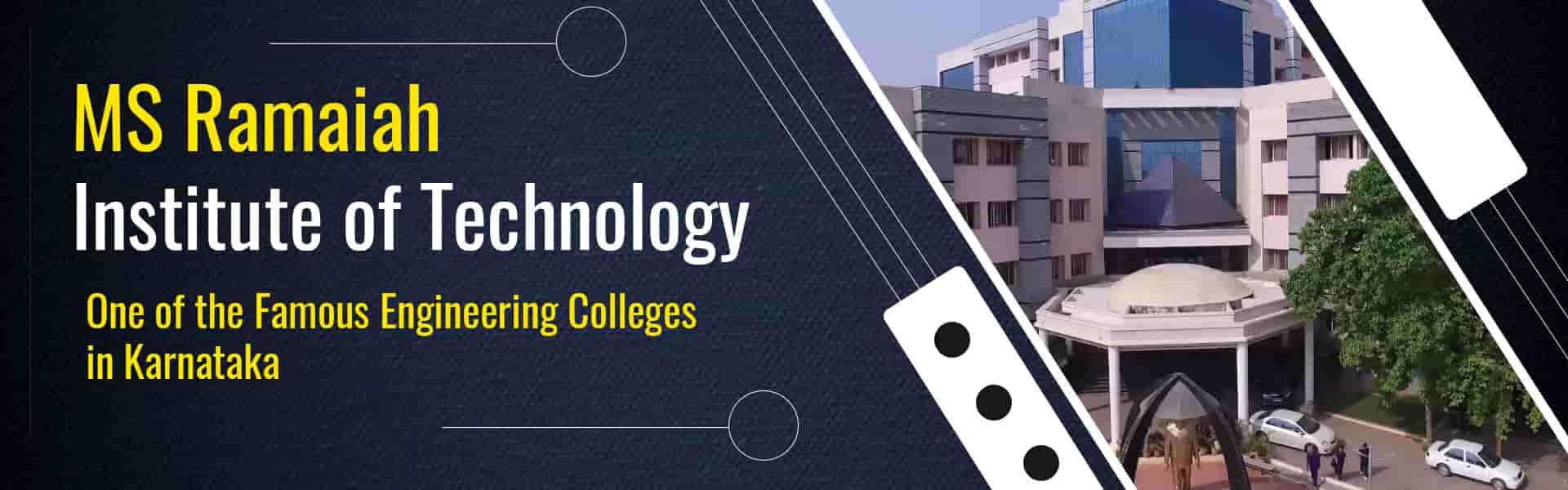 MS Ramaiah Institute of Technology MSRIT Bangalore